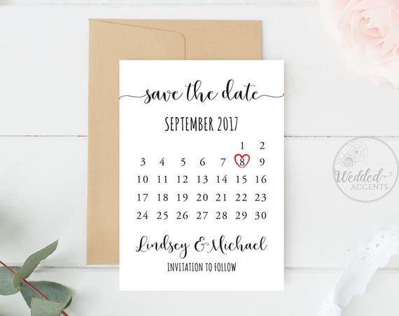 Save The Date Calendar Save The Date Calendar Template