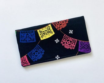 Papel Picado Checkbook Cover, Fiesta Checkbook Cover, Latina Gifts, Cute Checkbook Holder