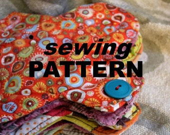 Cloth menstrual pads  - easy SEWING PATTERN to make your own reusable sanitary pads in PDF format
