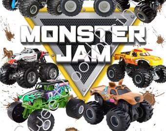 Monster Jam Printable-Instant Download-DIY Digital Print