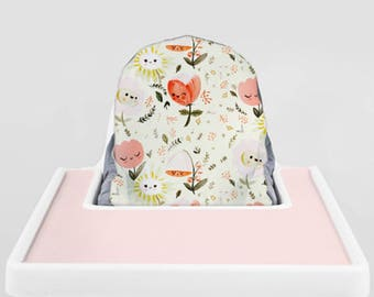 Happy Flowers // IKEA Antilop Highchair Cover // High Chair Cover for the PYTTIG Cushion // Pillow Slipcover
