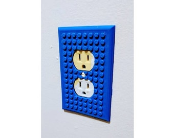 3D Printed Brick Builder Outlet Cover] Lego] Kids Gift Ideas] Party] Custom] Light Cover