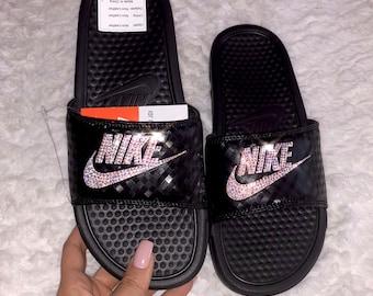 Swarovski Nike Benassi Slides