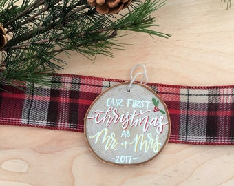 Our First Christmas as Mr. & Mrs. Ornament | Christmas Ornament | Christmas Decor | Wedding Gift | Christmas Gift