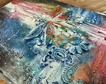 Dragonfly Writing Journal- Travel Journal- Mixed Media Art Journal- Diary- Art Journal- Dragonfly Journal- Dragonfly Notebook- Writing