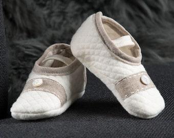 Baby Boy Booties, 'Braden' Quilted Booties