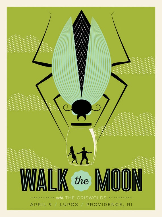 Walk The Moon 18x24 Screenprinted Gig Poster