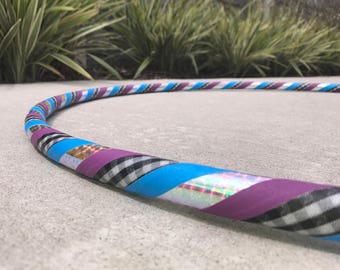 Beginner Hula Hoop // Checkered Shine Dance Hoop // Handmade Fitness Hoop