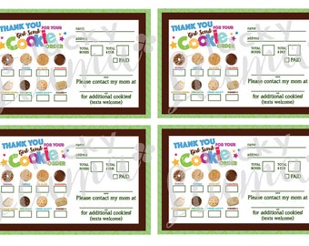 This is a graphic of Dynamic Girl Scout Cookie Order Form Printable 2020