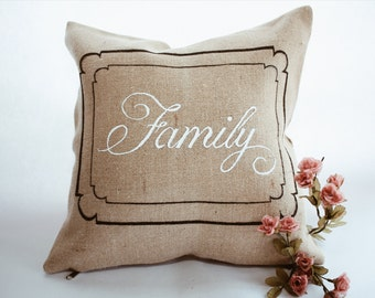 Hand Painted Decor Pillow
