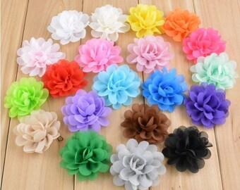 Dog Collar Flower // *2 inch* // Chiffon Rose Flower