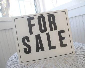 Vintage FOR SALE Sign * Ephemera