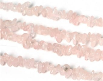 Set of 2-3 to 5 mm approx - coral stone beads Rose Quartz