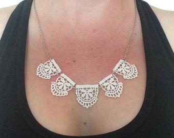 Vintage lace, delicate necklace