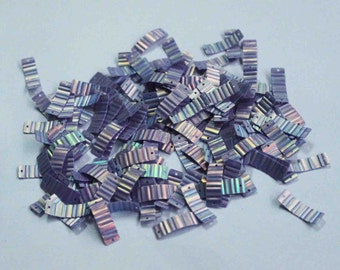 100 Purple Color /Crimpled Texture / Metallic / Rectangle Sequins/KBRGS290