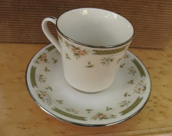 American Royalty Japan-Spring Gardens pattern- Fine China Cup and Saucer
