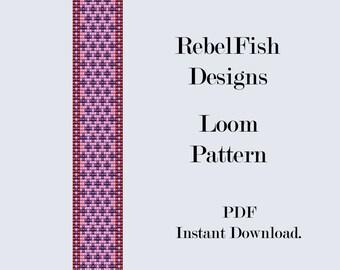 In The Pink. Loom. Pattern.PDF. Bracelet. Bookmark