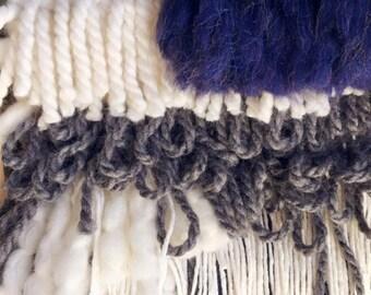 NASTY WOMAN // custom fringed weaving