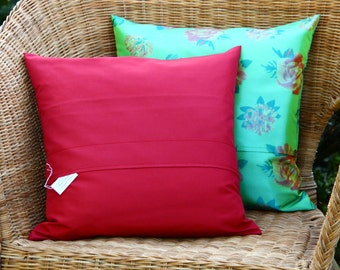 Red Pillow Covers, 16x16 Throw Pillow Covers, Decorative Red Throw Pillows, Red Toss Pillows, Red Accent Pillows, Red Sofa Pillows