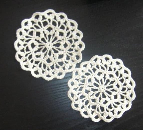 Small Crochet Coaster Pattern Scallop Doily Coaster