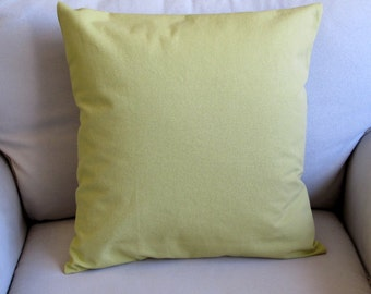 granny smith green cotton duck pillow cover with insert