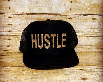 Hustle trucker hat