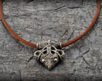 Viking Raven Necklace Sigtuna Sterling Silver, Thors Hammer, Handmade Jewelry