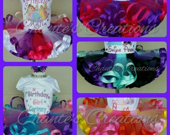 Create your own ribbon trimmed tutu (2 to 4 colors)