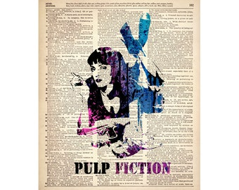 Instant download PULP FICTION, printable, poster w00307D