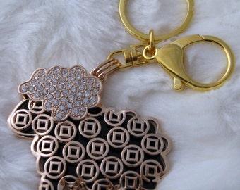 Sheep Keychain Gold x 1