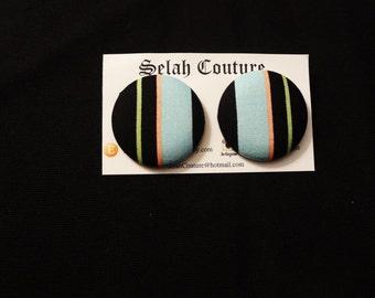 Multi-Colored Large Stud Earrings