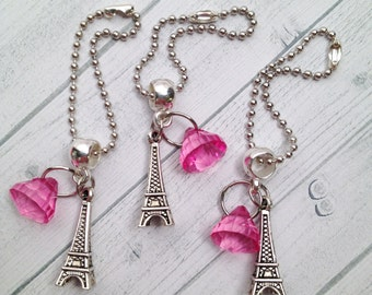 8 Paris Eiffel Tower Zipper Pull Backpack charms Paris Party Favors Eiffel Tower Party Favors Pink Paris Birthday Paris Slumber Party Favors