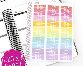 LS150 Spring Palette To Do MDN Headers! Set of 60 Planner Stickers, List, Shopping, Errands, Perfect for the Erin Condren Planner!!!