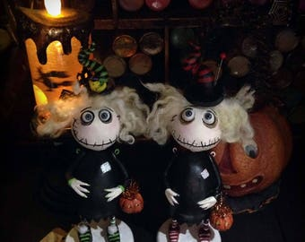 Halloween spooky witch doll