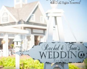Arrow Sign | Arrow | Wedding Arrow Sign | Custom Wedding Name Sign | Rustic | Wedding Decor | Directional Sign | Ceremony Sign |Wooden Arrow