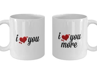 I Love You Mugs for Couples