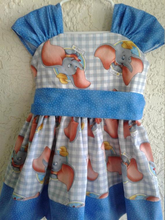 Dumbo Dress, Disney Dumbo, Girls Dress, Dumbo Birthday dress,Character Disney dress Elephant Dress, Toddler Dumbo dress