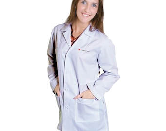"410 34"" Ladies Lab Coat, Personalized Just For You! Great for doctors,"