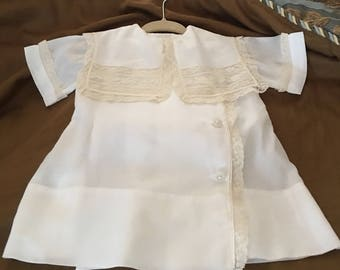Heirloom  Baby Boy Swiss Batiste Apron