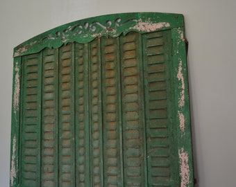 Iron Window Framed Shutters Antique Large