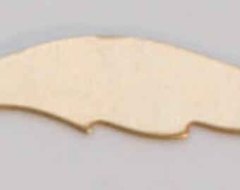 "Brass Blanks Feather 1"" 24ga Pkg Of 6"