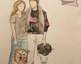 MORE Couples: Custom Watercolor and Ink Portraits