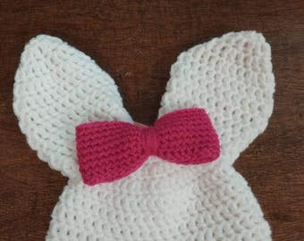 Bunny hat, Bunny beanie, Easter bunny hat, Easter photo prop, Crochet photo prop, Crochet hat, Baby bunny hat, Baby gift, Toddler hat