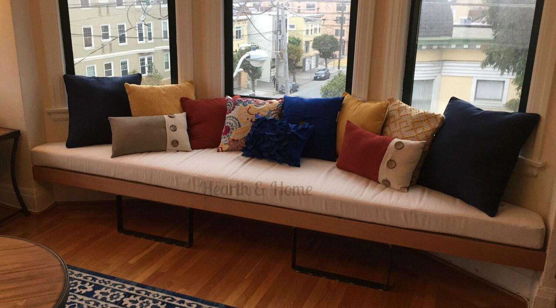 Trapezoid Cushion Custom Cushion Bay Window Seat Cushion