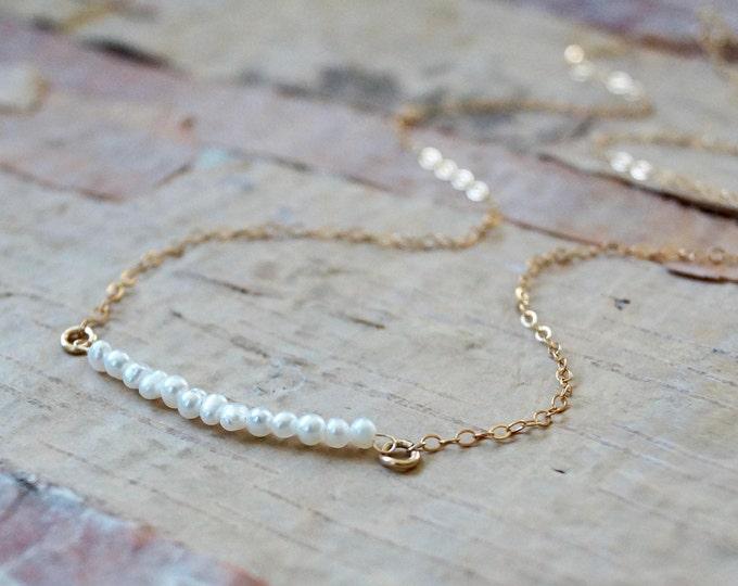 14k / Raw diamond necklace - Platinum grey