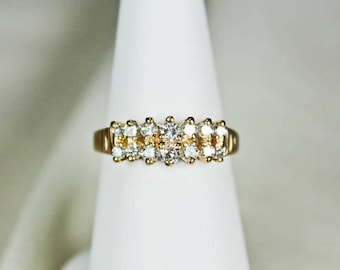 14KT Gold Diamond Ring Band