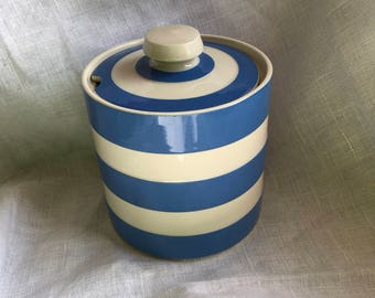 Cornishware Jam /honey pot by Judith Onions