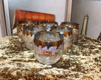 Silver Fade Roly Poly Stemless Wine Glasses