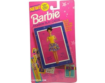 New vintage retro Barbie Fashion Play Cards Pack 1993