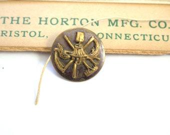 Grange Button Antique Brass